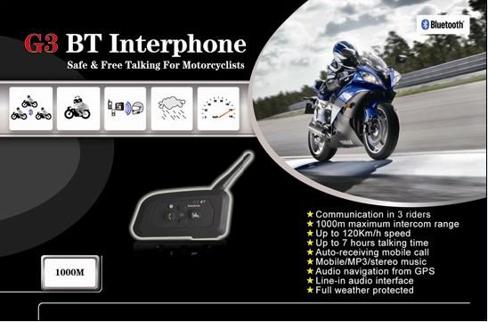 Блютуз гарнитура и интерком для мотоциклистов