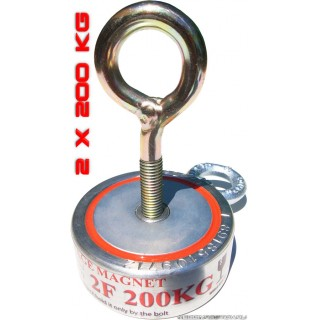 2Ф200 Двухсторонний постоянный поисковый магнит неодимовый