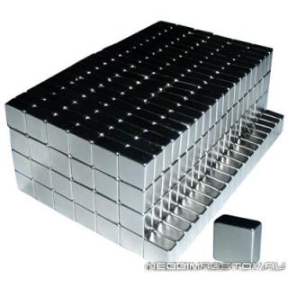 10х10х5 мм Сильный Неодимовый магнит призма (2,8 кг на отрыв)
