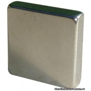 20x20х5 мм Сильный Неодимовый магнит призма (5.6 кг на отрыв)