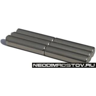 Постоянный мощный неодимовый магнит цилиндр 5х20мм
